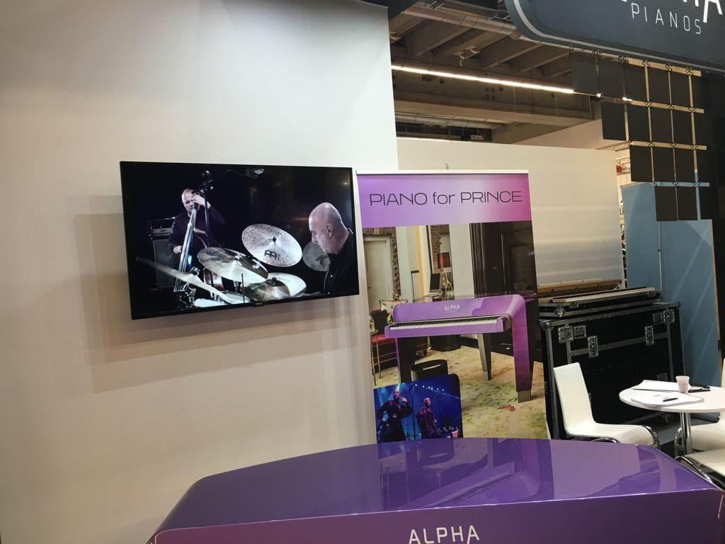 Unser jazztrio.at Video für Alpha Piano wurde bei der Musikermesse in Frankfurt präsentiert