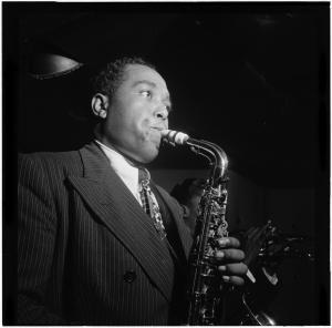 Portrait of Charlie Parker in 1947